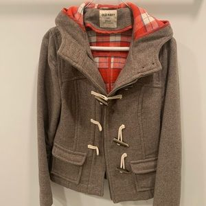 Old Navy Small Toggle Zipper Wool Peacoat Used